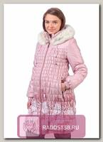 Пальто для беременных цветочный принт на серебр