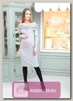 Платье для беременных прямого силуэта серый