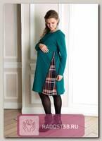 Платье для беременных с молнией Матис ель