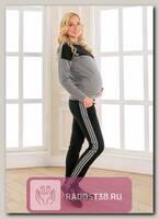 Костюм Мэй для беременных и кормящих синий/серый