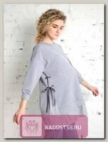Свитшот для беременных Леона Light серый меланж