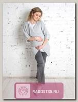 Кардиган Одри мини для беременных светло серый