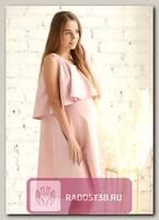 Платье с воланом для беременных розовый