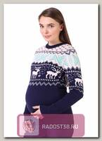 Джемпер Суоми для беременных синий/пудра