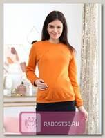 Свитшот для беременных и кормящих желтый