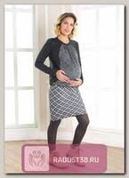 Джемпер для беременных и кормления Меланж серый