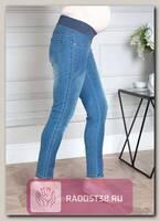 Джинсы для беременных голубой деним