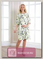 Платье Бэль для беременных цветок на желтом