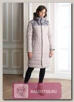 Куртка для беременных Джотто серобежевый/листья