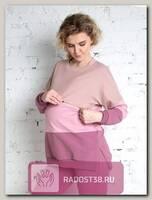 Свитшот для беременных и кормящих Плам Ligh