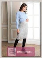 Платье для беременных и кормящих Ингрит серый
