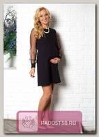 Платье нарядное для беременных черный