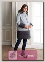 Куртка 2в1 для беременных Дакота серый/антрацит меланж