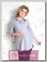Рубашка для беременных Эмбер серая полоска