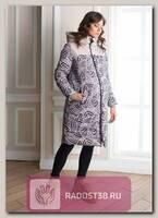 Пальто для беременных Джотто листья/пудра