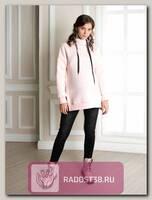 Худи для беременных и кормящих Брукс+ розовый