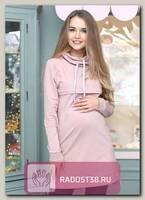 Туника для беременных и кормящих с капюшоном