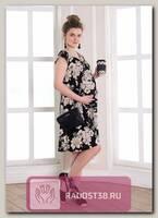 Платье для беременных Лайма цветы на черном