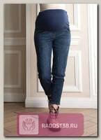 Джинсы Бойфрендый для беременных синий джинс