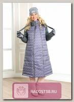 Пальто для беременных Тинто серый с сиренью