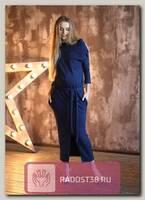 Платье для беременных синий