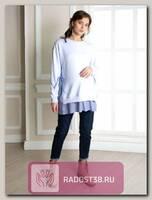 Свитшот для беременных Леона голубой