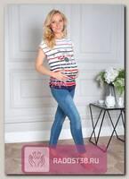 Блуза с кружевом для беременных Сандра разноцветный