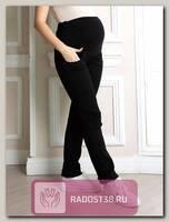 Джинсы для беременных на флисе стрейч черный