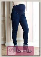 Джинсы для беременных утепленные Бойфренды синий
