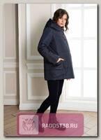 Пуховик для беременных двухсторонний Онтарио темно_синий/фуксия