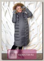 Пальто 2в1 для беременных Калипсо серый