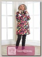 Куртка для беременных 2в1Энжи цветный пятна/серый