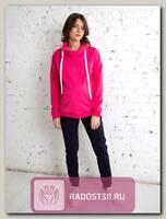 Свитшот для кормящих Фанни ярко-розовый