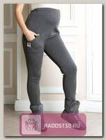 Легинсы для беременных на меху темно-серый меланж