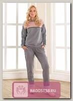 Спортивный костюм для беременных серый