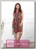 Платье летнее для беременных Магнолия розовые цветы