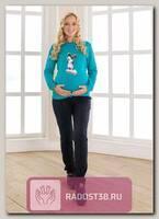 Свитшот для беременных Микки салатовый