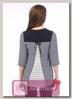 Блуза Бонни для беременных синяя полоска