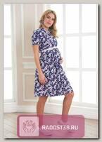 Платье для беременных Лэйси синекрасные цветы