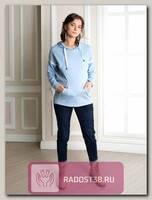 Худи для беременных и кормящих Аманда светло_голубой