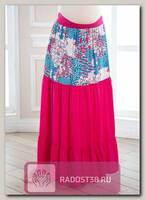 Юбка для беременных Макси розовый с компаньоном