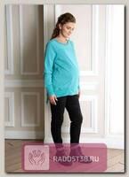 Свитшот для беременных Санти аква