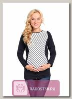 Блуза для беременных и кормления синяя полоска